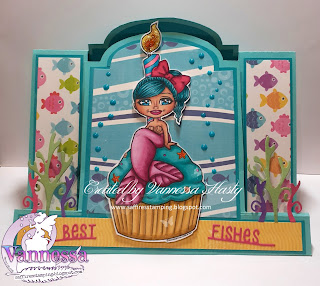 Stepper Card Featuring Birthday Cupcake Appleblossom Mermaid