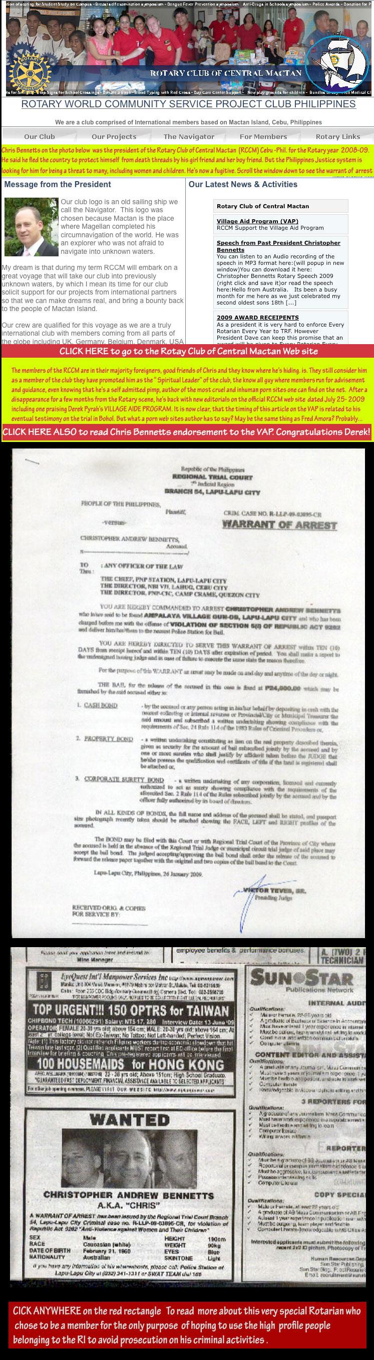 Christopher Bennetts  President - RCCM Cebu.