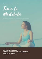 FREE Guided Meditation Every Monday at Wellnessland!