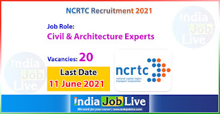 ncrtc-recruitment-2021-apply-online-20-civil-engineer-architecture-experts-various-jobs-indiajoblive.com