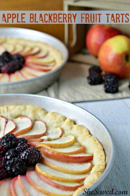 Apple Blackberry Fruit Tart Recipe