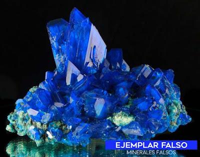 calcantita falsa - sintetica - polonia | foro de minerales