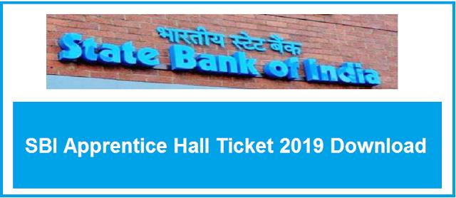 SBI Apprentice Hall Ticket 2019 Download