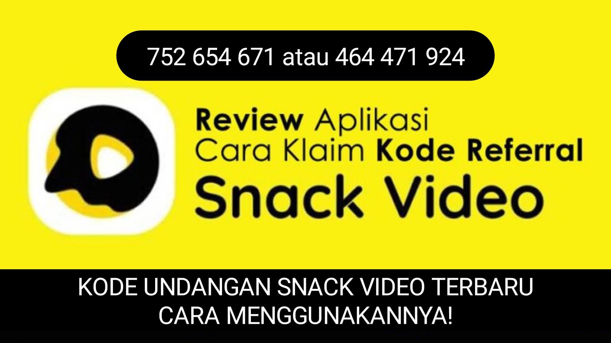 Kode Undangan Snack Video Terbaru September 2021   Cara Menggunakannya!