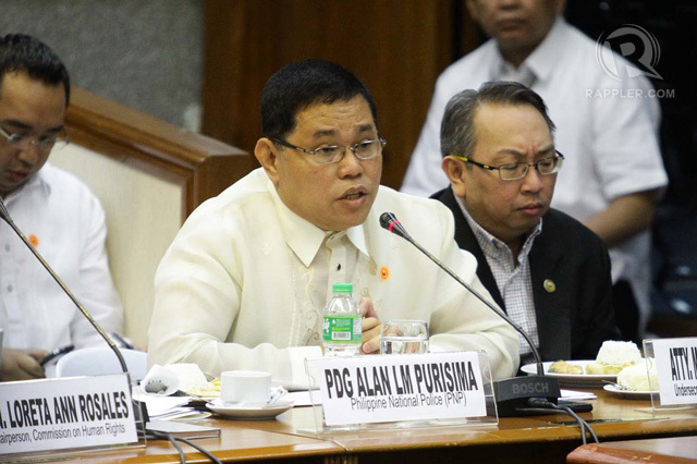 General Alan Purisima being questioned at the senate