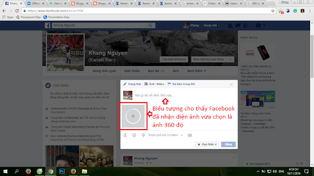 Cách đăng ảnh 360 độ lên Facebook từ máy tính
