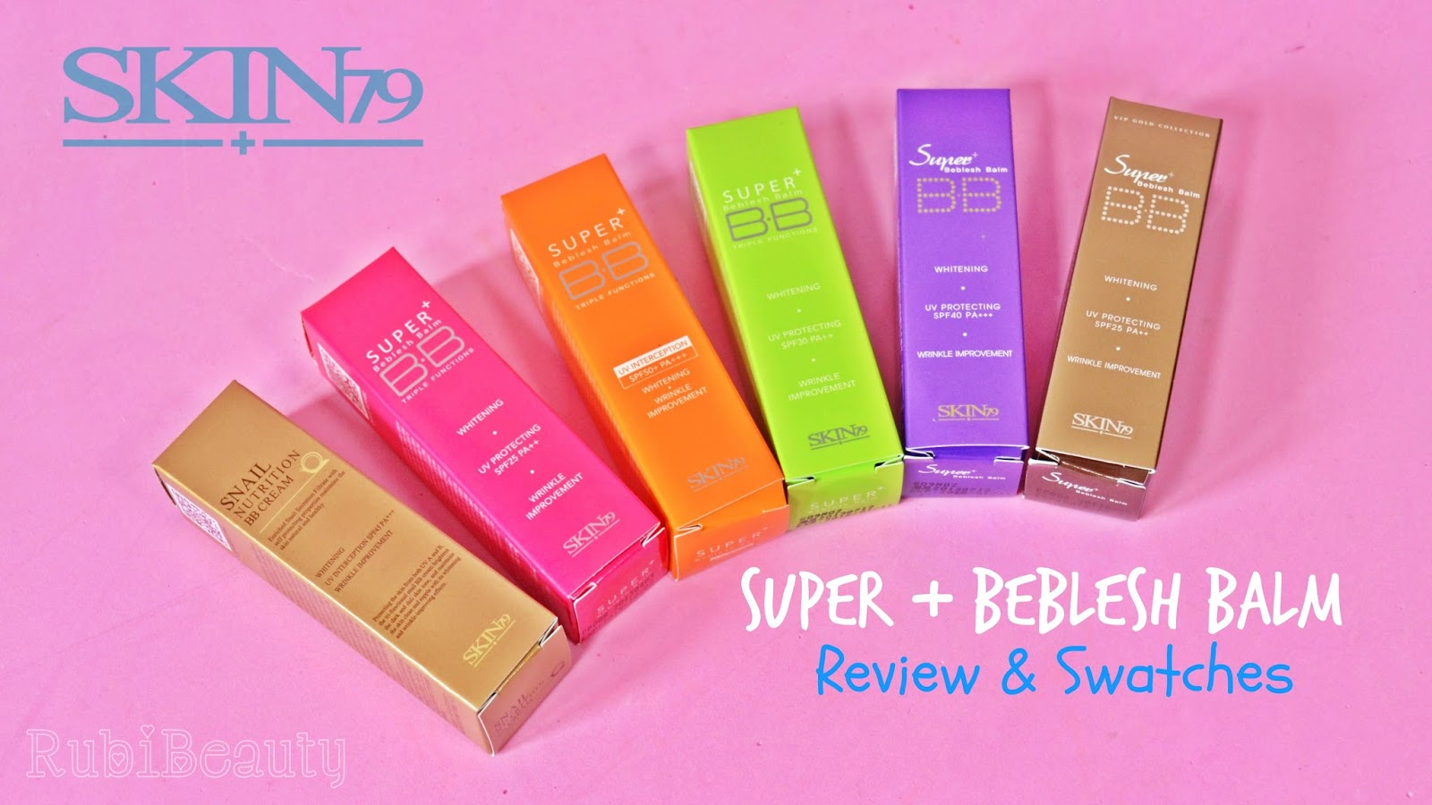 rubibeauty review opinion personal Super + Beblesh Balm BB Cream Skin 79 Hot pink orange vip gold snail silky purple