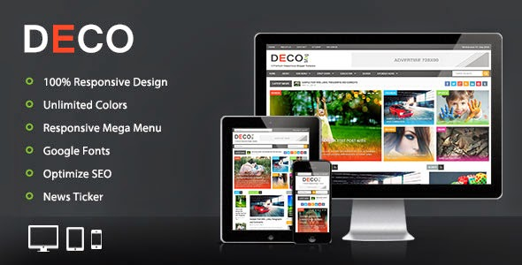 Deco - Magazine Blogger Template