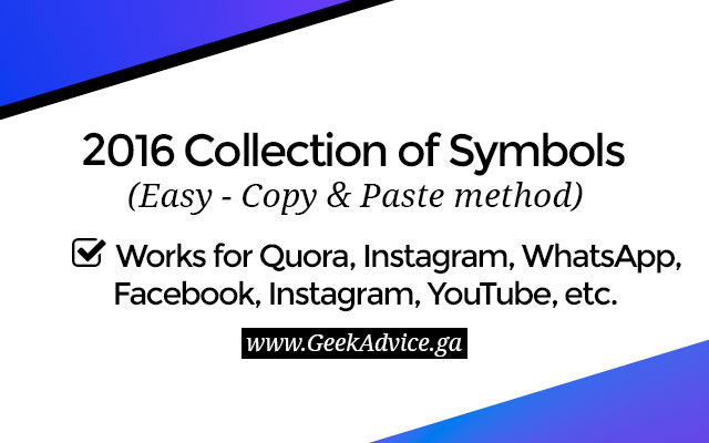 Cool Symbols To Copy And Paste Archidev