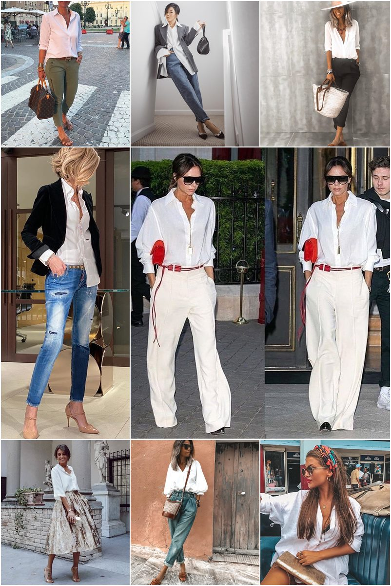 40 maneiras de como usar camisa branca feminina