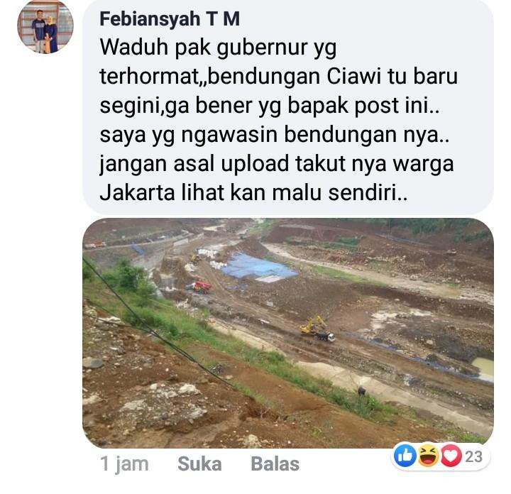 Unggah Foto 2 Bendungan, Netizen Protes Keras kepada Ridwan Kamil