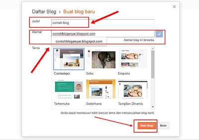 memasukkan judul blog di blogger