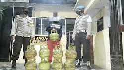 Spesialis Pencuri Tabung Gas Elpiji Diringkus Polsek Keruak