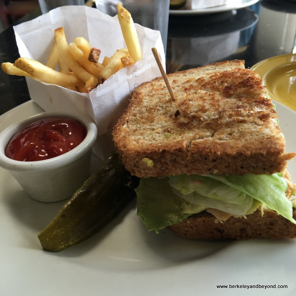 half turkey sandwich at Wild Note Cafe in Solana Beach, California