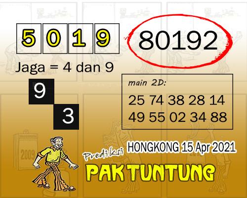 Syair HK Kamis 15 April 2021 -