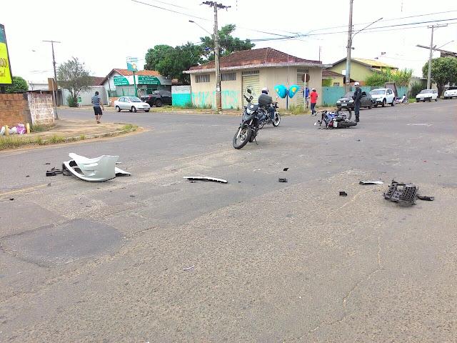 Mulher comete imprudência no trânsito e atropela dois motociclistas da Guarda Civil de Campo Grande (MS)