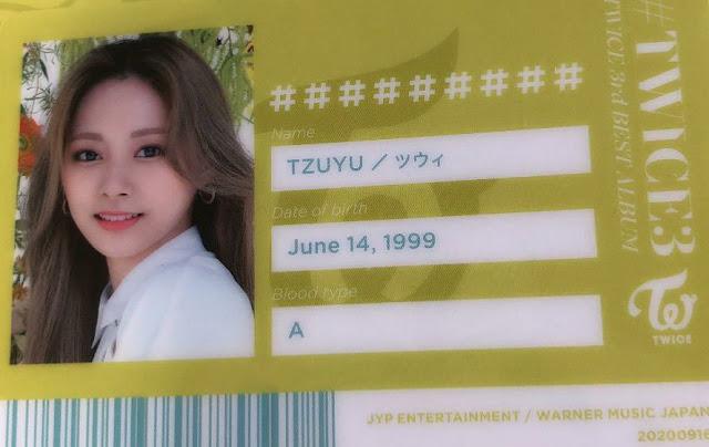 TWICE 3 Tzuyu ID