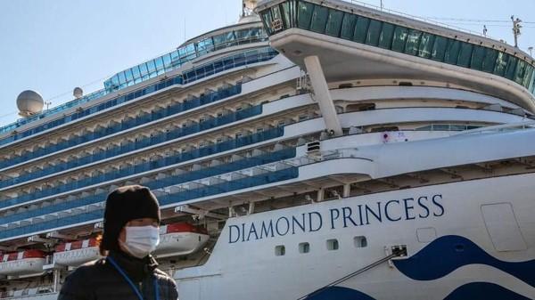 175 Orang Positif Corona di Kapal Pesiar Jepang, Termasuk Petugas Karantina
