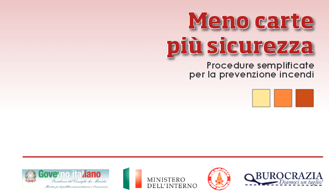Procedure semplificate per laprevenzione incendi