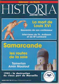Revue Historia, 553 1993, la mort de Louis XVI
