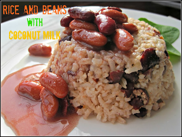 Rice and Beans with Coconut Milk Recipe, experience the ultimate Caribbean side dish for excellence! a hint of coconut milk on every bite, not only taste but rich in fiber too! #rice #beans #caribbeanfood #sidedish #coconut