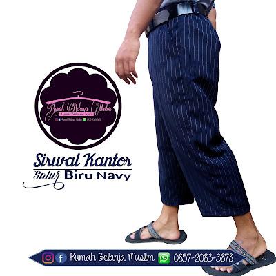 Sirwak Formal Kantoran Twis Navy
