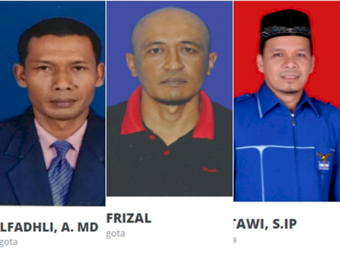 Ini Tampang 3 Anggota DPR Aceh yang Baku Hantam di Sela-Sela Rapat, Saling Pukul & Tendang