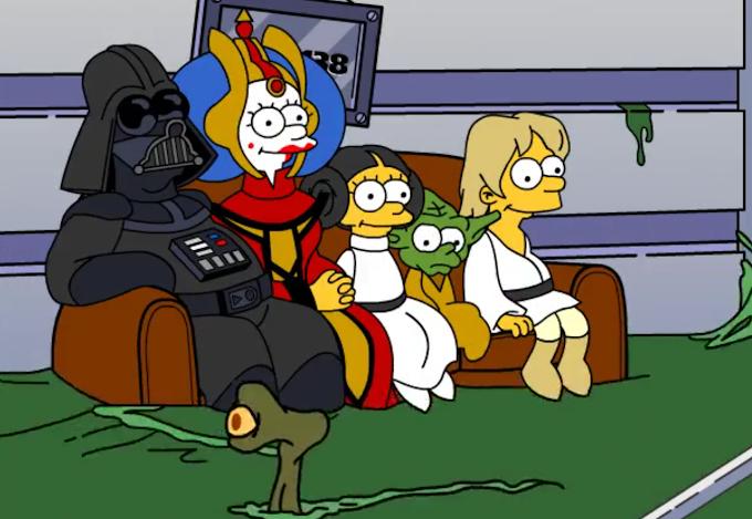 Todas las referencias a los universos Star Wars y Marvel en Los Simpsons los últimos 30 años