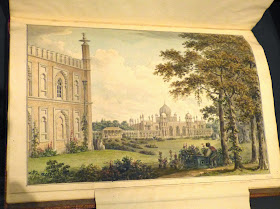 Designs for the Pavilion at Brighton West Front of the Pavilion   towards the Garden by Humphry Repton (1806)