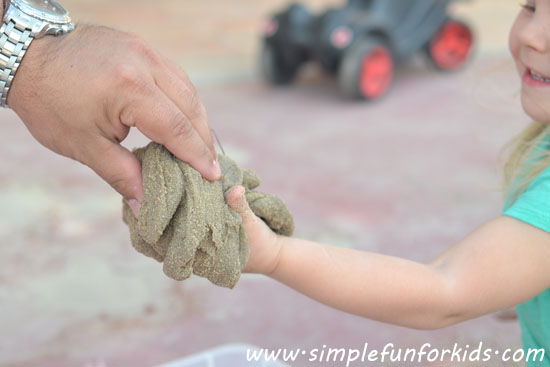 sand slime - summer camp activities
