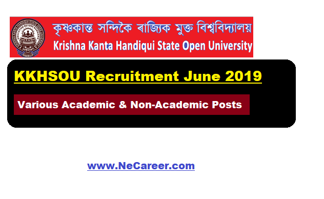 KKHSOU Recruitment 2019 (June)