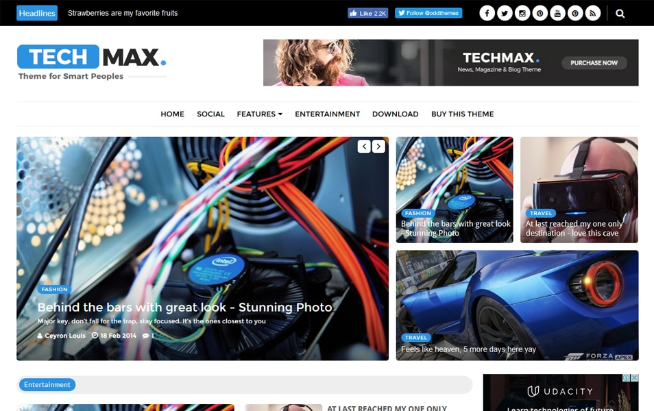 Techmax Technology Blogger Teması