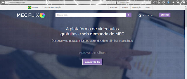 MECFlix - Plataforma de videoaulas gratuitas