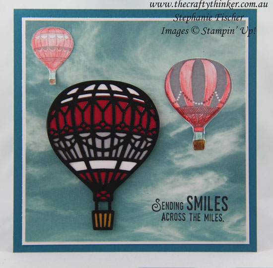 Lift Me Up Bundle, Serene Scenery DSP, Balloon, #thecraftythinker, Stampin Up Australia Demonstrator, Stephanie Fischer, Sydney NSW