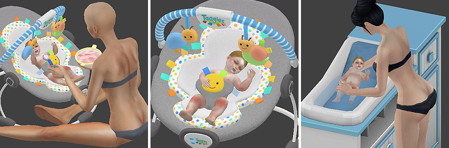 Babies Stories Decor 2 Poses Redheadsims Cc