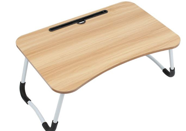 SIDDHARTH FAB Presents Foldable Laptop Table with Cup Holder, Study Table, Bed Table, Breakfast Table, Foldable & Portable (WOODEN)