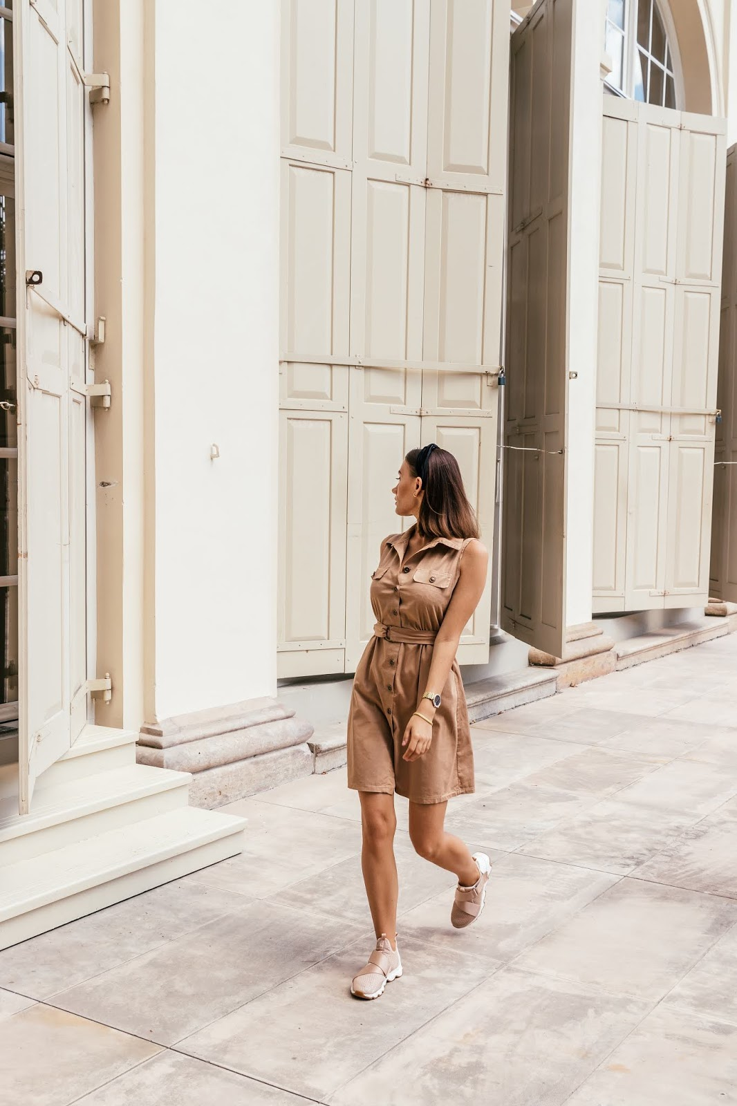 lato, stylizacja, sukienka