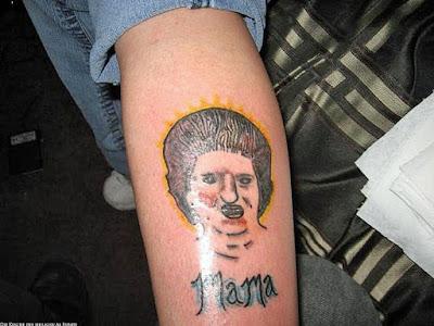schlimme Tattoos Fails - Mama mit Portrait lustig