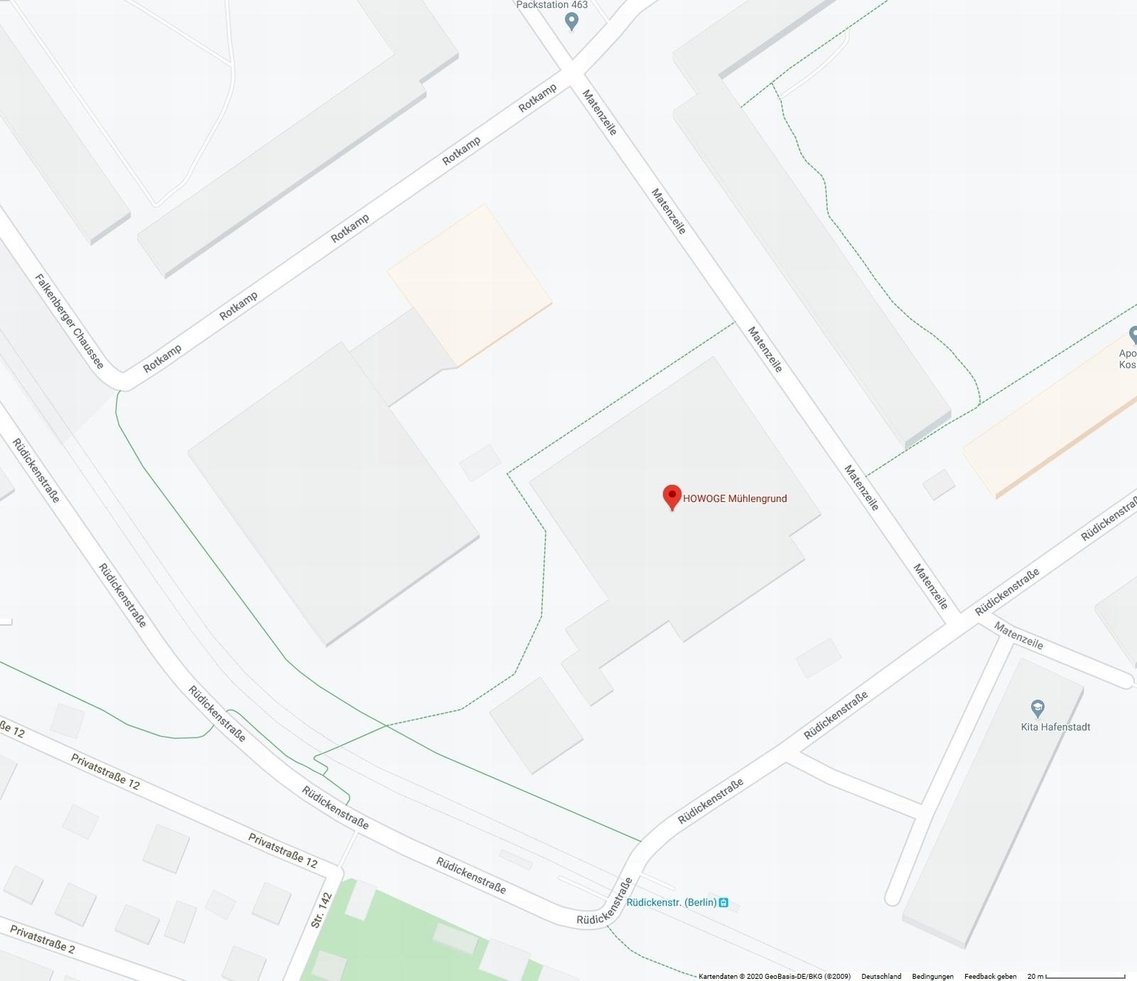 Der Mühlengrund in Google-Maps