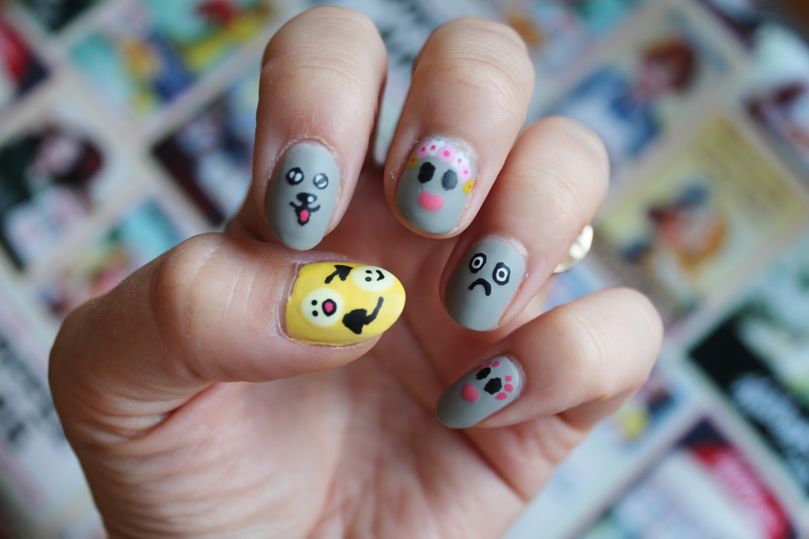 Snapchat Filter Nail Art - Jersey Girl, Texan Heart