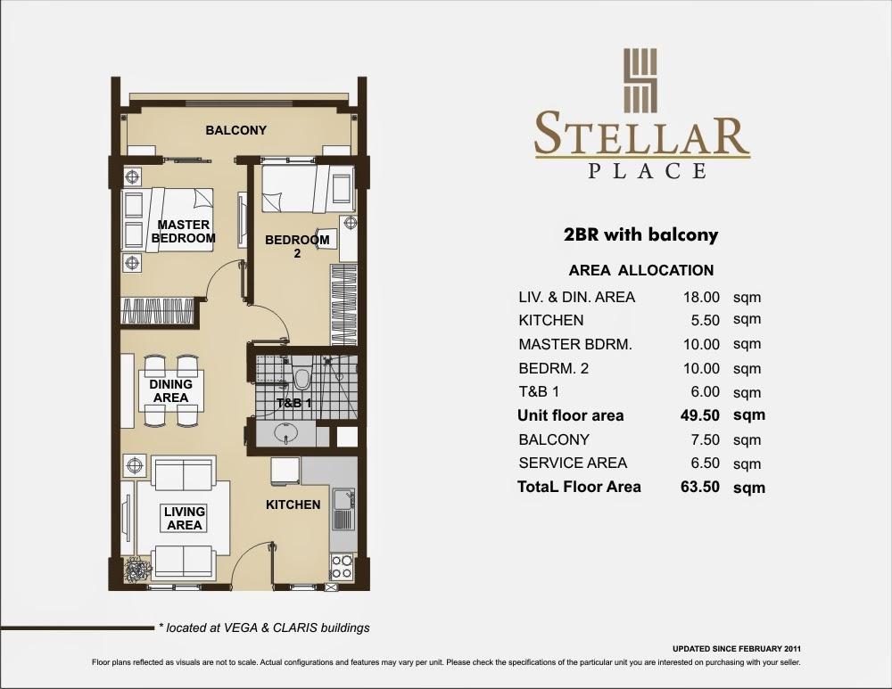Stellar Place 2-Bedroom Unit 63.50 sqm