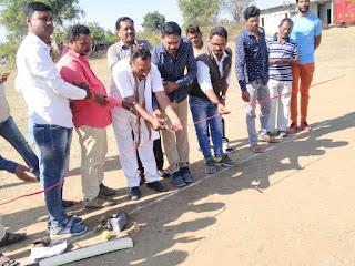 ब्राम्हण पिपला बिंदास क्रिकेट क्लब मैच के उद्घाटन फीता काटकर किया - विलास जोगी