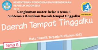Rangkuman materi kelas 4 tema 8