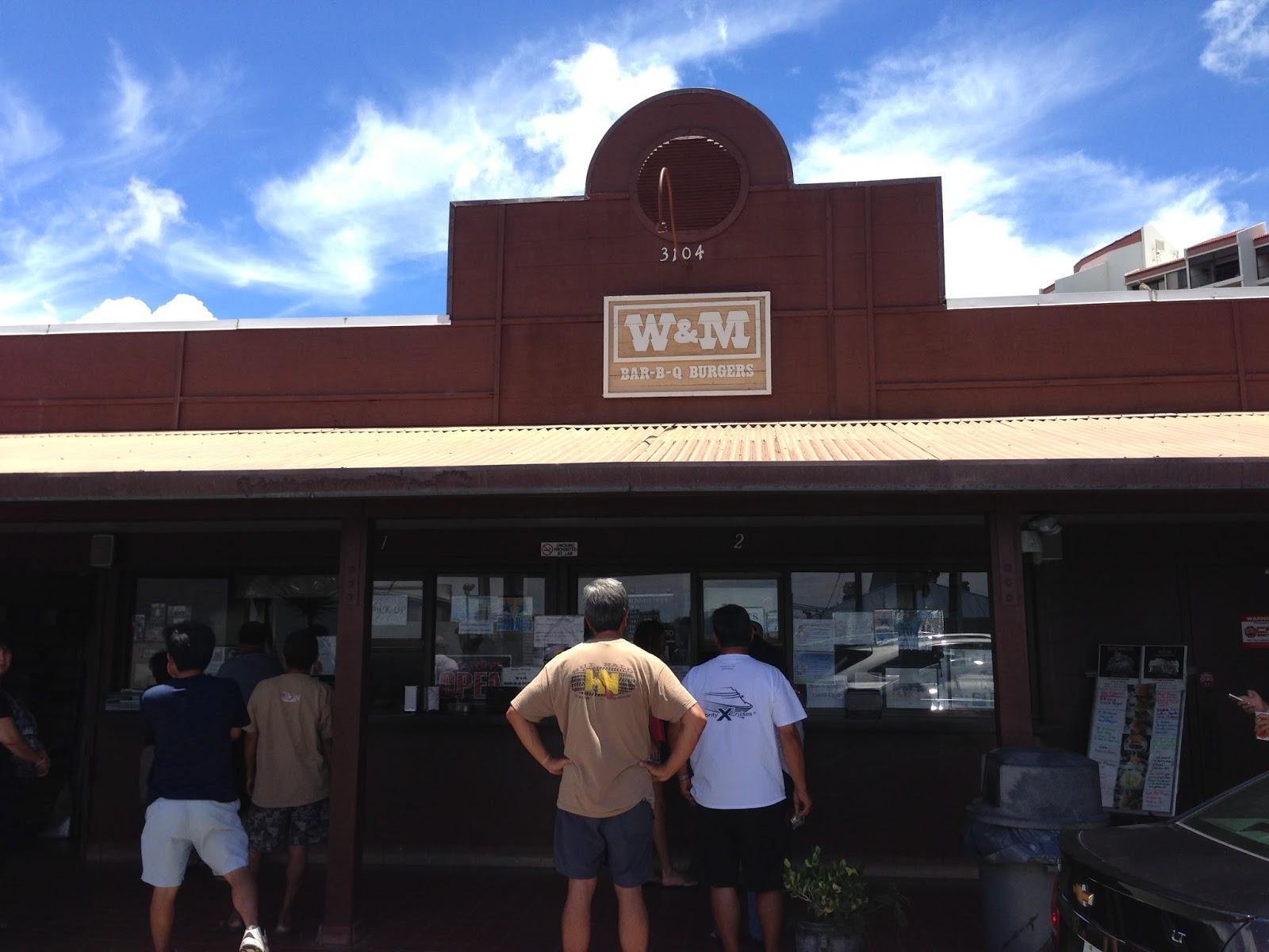TASTE OF HAWAII: W&M BAR-B-Q BURGERS