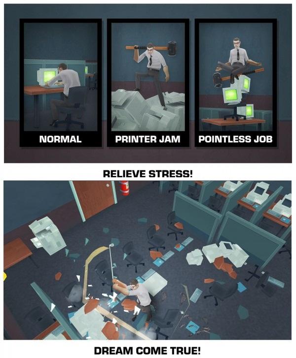 Smash the Office – Stress Fix! Apk v1.8.25 (Unlimited Money)