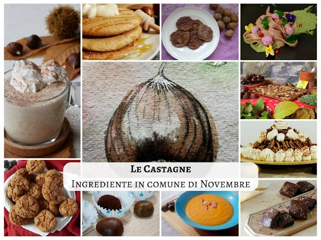 le castagne ingrediente in comune di novembre