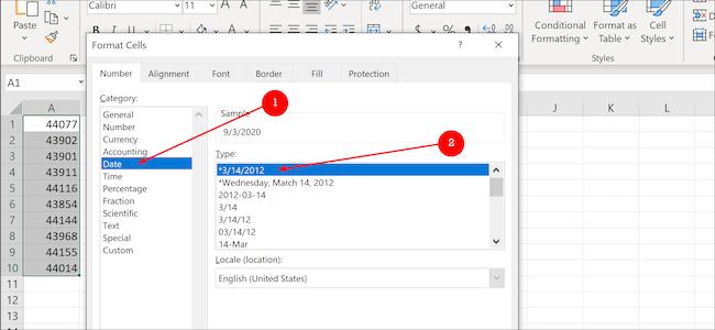 تنسيق بيانات Excel