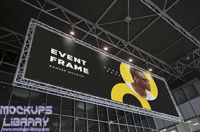 free event billboard mockup