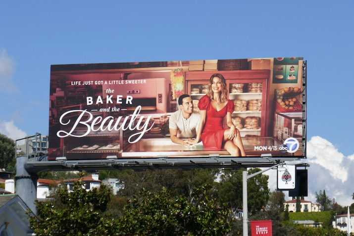 Baker and the Beauty TV series billboard