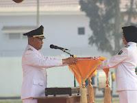 Berjalan Khidmat, Bupati HSU Jadi Inspektur Upacara di HUT Kemerdekaan RI ke-74 tahun